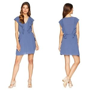 NWT 1. State | V-Neck Ruffle Edge Dress with Ties